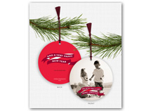 Banner Message Photo Ornament Holiday Cards
